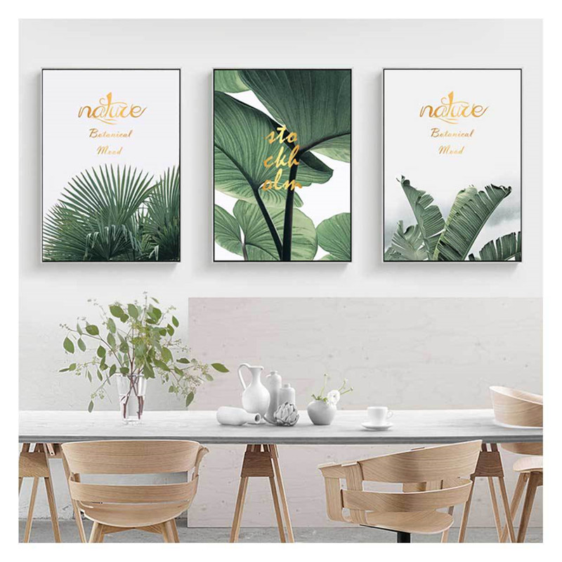 Green plant decorative painting mural painting hanging painting decorative painting room decoration painting core