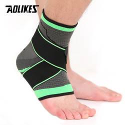 AOLIKES 1 шт. 3D Ткачество Эластичный нейлоновый ремешок фиксирующая поддержка лодыжки бадминтон баскетбол футбол, таэквондо фитнес пятки
