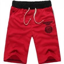 Running Shorts Plus-Size Beach Cotton Summer Casual Drawstring Elastic-Waist Printed