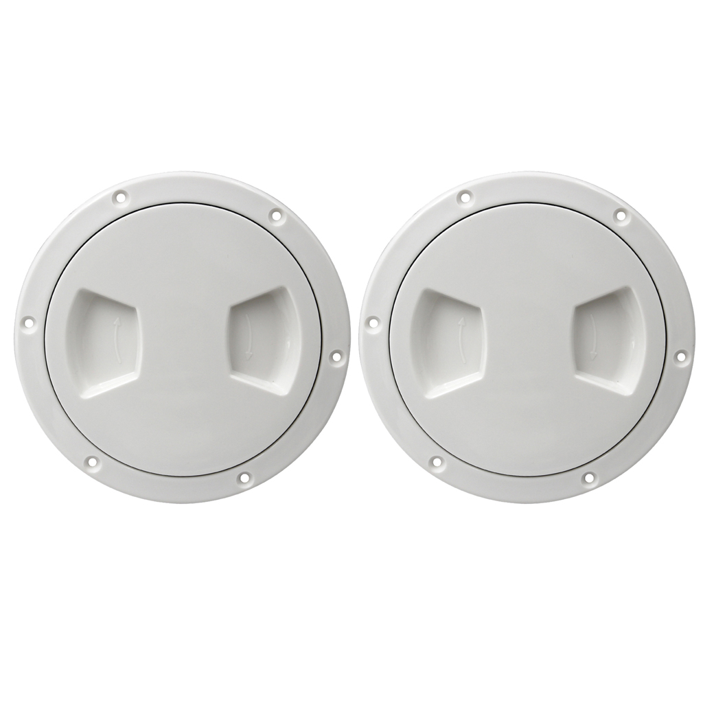 2x 5-inch Deck Plate Marine Access Boat Inspection Hatch Cover Plate 5.5 Inch Cut Out