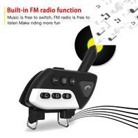 מכשיר הקשר Bluetooth V5.0 אינטרקום אופנוע קסדה אוזניות M7 Multi BT אלחוטית מכשיר הקשר 800 סטריאו Interphone Headset לקבלת 5 Rider (4)