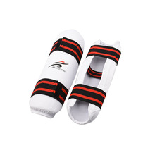 лучшая цена Karate Forearm Protector Taekwondo Sparring Set Leg Knee Pad Shin Support Training Equipment for Adults Youth Kids Children