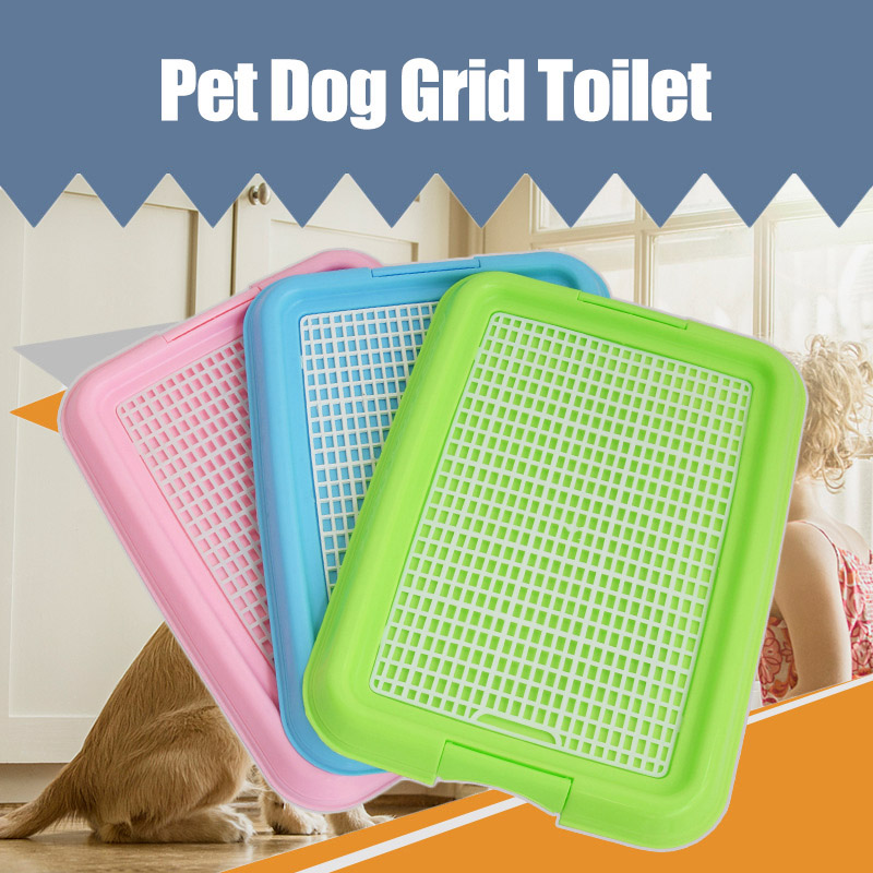 Mesh Grid Flat Column Pet Dog Toilet Dogs Training Toilet Tray Mat Easy Cleaning D6