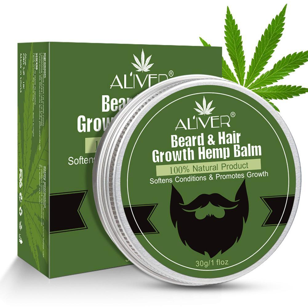 Men Natural Organic Beard Hemp Cbd Oil Balm Moustache Wax Styling Beeswax Moisturizing Smoothing Beard & Hair Growth Hemp Balm