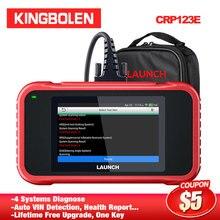 Lançamento crp123e obd2 4 sistemas eng abs srs transmissão obdii leitor de código crp 123e scanner ferramenta de diagnóstico do carro android crp123