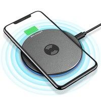 Goldfox qi 무선 충전기 삼성 s9 s8 참고 8 무선 충전 패드 아이폰 xr xs 최대 8 휴대용 qi 무선 충전기