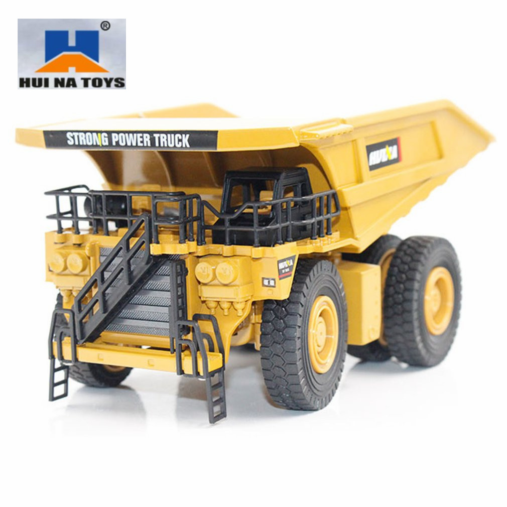 HUINA <font><b>TOYS</b></font> NO.1912 1/40 Alloy Mining Dump Trucks <font><b>Car</b></font> Die-Cast Metal Engineering Construction Vehicle Model kids <font><b>Toys</b></font> image