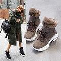 4000128565180 - Koovan, botas para mujer, novedad de 2020, botas cortas de invierno para nieve para niñas, de piel auténtica, cortas, mate, además de zapatos de algodón de terciopelo 40
