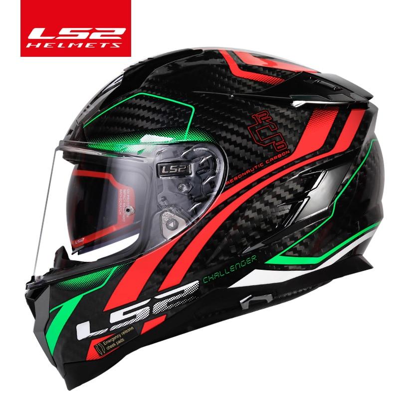 Oryginalny LS2 Challenger pełna twarz moto rcycle kask ls2 FF327 casco moto capacete z włókna węglowego