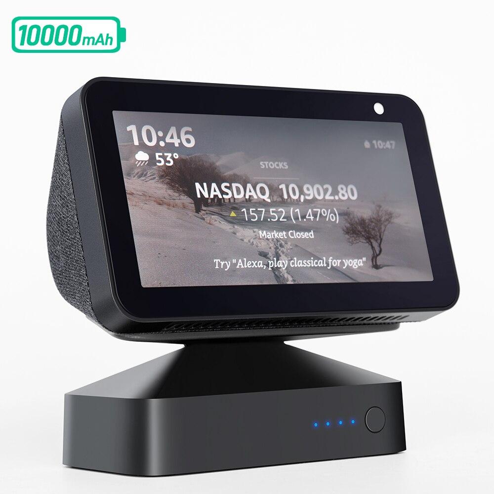 GGMM ES5 10000mAh батарея база для Echo Show 5 Amazon Alexa Регулируемая подставка для крепления показа 5 переносная перезаряжаемая батарея 9,5 H Play