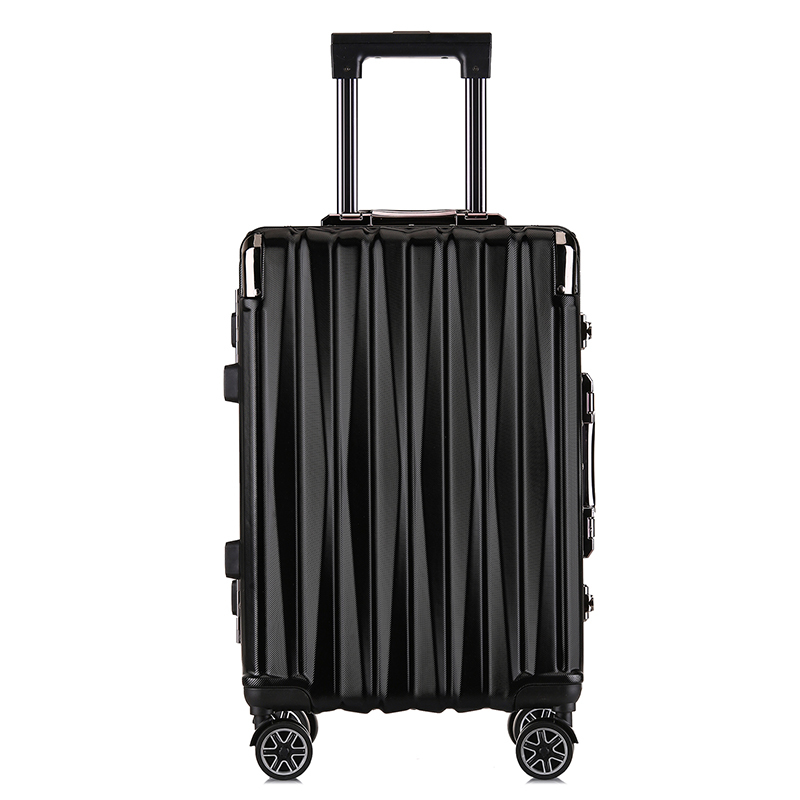 New Best-selling Customs Lock Trolley Box Twill Shell Light Pressure Resistant Luggage Unisex Boarding Business Trolley Case
