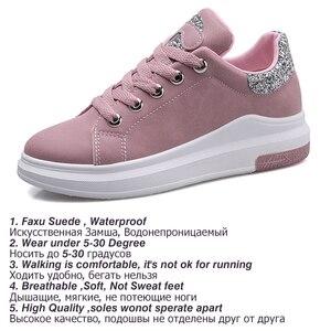 Image 4 - Fujin marca 2020 otoño zapatos de mujer Zapatillas suaves cómodos zapatos casuales moda señora Flats zapatos femeninos para mujeres PU