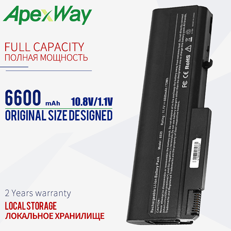 6600mAh Laptop Battery For HP EliteBook 6930p 8440p 8440w For ProBook 6440b 6445b 6450b 6540b 6545b 6550b 6555b