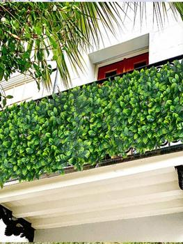 Panel de cobertura de hoja Artificial, pantalla de privacidad, valla de jardín, Fondo de Planta Artificial, tablero de cobertura de hoja Artificial