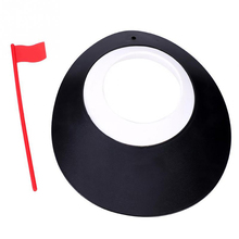 Golf Putter Adjustment Plastic Cup Hole Sign Indoor Practice Training Auxiliary Exerciser Random Color