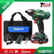 цена на KGB 18V Impact driver Cordless impact screwdriver Lithium-Ion Electric Cordless Impact Wrench Drill Driver Kit Power Tools