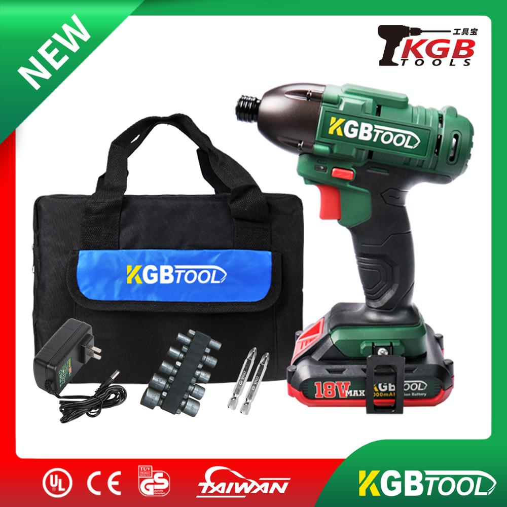 KGB 35mm Chuck Impact Driver 18V Screwdriver Lithium-Ion Electric Cordless  Wrench Drill Kit With Tool Bag For Carpenter
