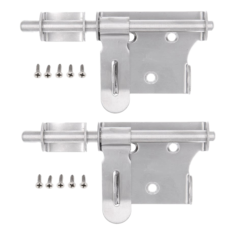 6 Inch Stainless Steel Security Barrel Latch Hasp With Padlock Hole For Fence Interior Door Brushed Finish