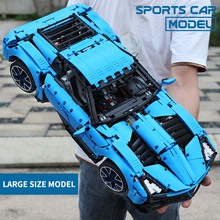 MOC New Technic Chevrolets Corvettes Grand Sport Il Toro Azzurro Fit 31189 Model Building Blocks Bricks Toys Gift