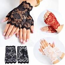 Nowa letnia najlepsza sprzedaż marynarz do tańca, długa damska bez palców seksowne koronkowe rękawiczki damskie pół palca kabaretki rękawiczki podgrzewane siatkowe rękawiczki
