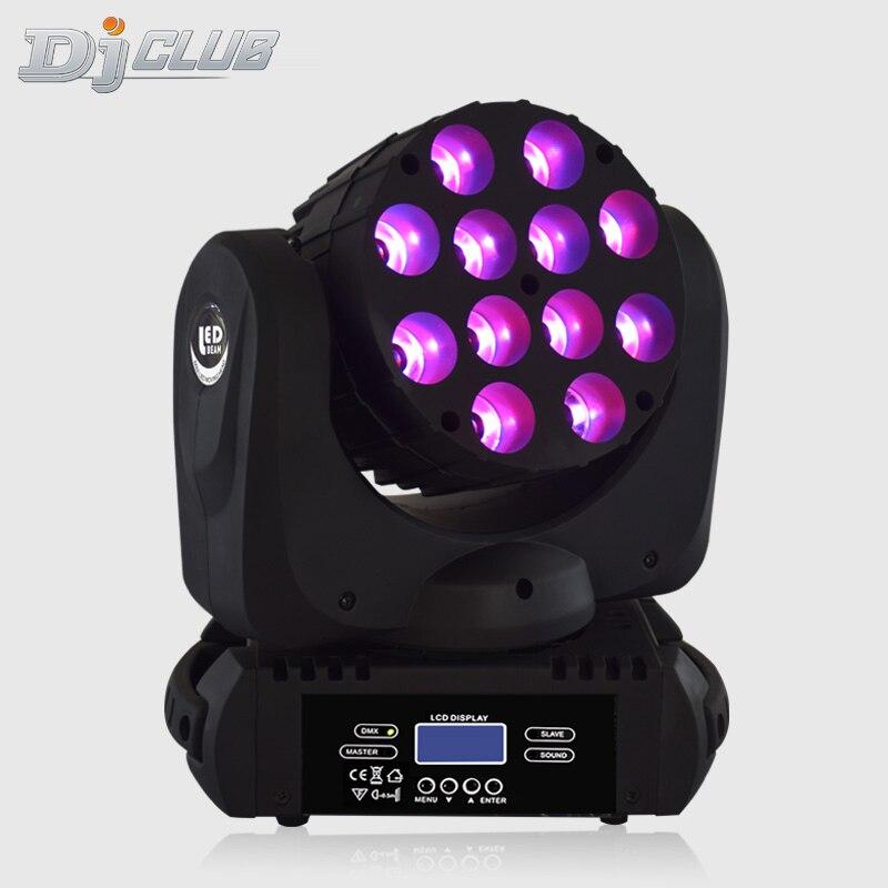 Луч led 12X12W RGBW движущийся головной свет со сценическими огнями профессиональный сценический DJ