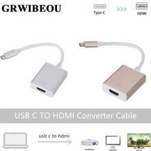 Grwibeou USB C Sang HDMI Adapter USB 3.1 Thunderbolt 3 Hdmi Iphone USB C To HDMI Switch cáp Chuyển Đổi Loại C Thiết Bị