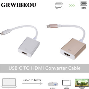 Image 1 - Grwibeou USB C TO HDMI Adapter Cable Usb 3.1 Thunderbolt 3 To HDMI Iphone Usb c To HDMI Switch Cable Converter for Type C Device