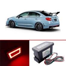 цена на Red Lens 3-In-1 LED Rear Fog Light Kit Tail Lamp Brake Lamp Backup Reverse Light For Subaru Impreza WRX/STi XV Crosstrek 11-19
