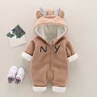 Baby body clothes thicker in winter, baby babies warm, crawling 0 to 3 months old, boys and girls, boys and girls