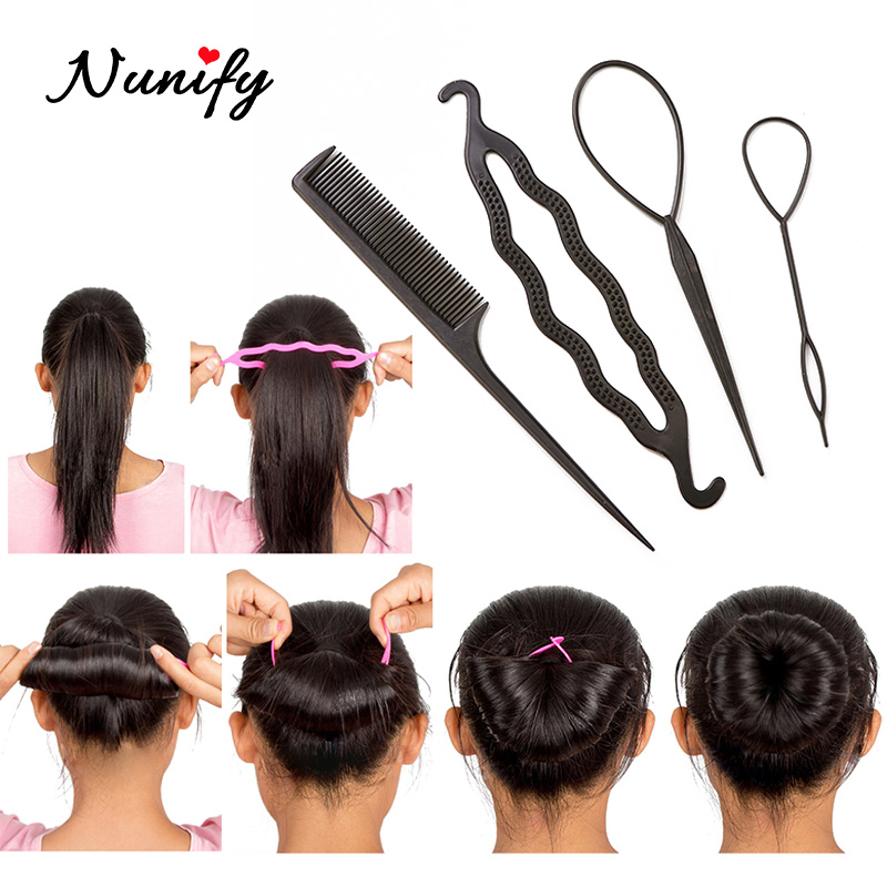 Nunify Easy Braid Hair Device Flaxen Hair Salon Tools For Women Hairstyles Maker Clip Bobby Pins Professional Makeup Tools