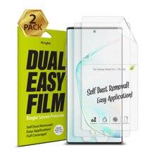 Ringke Protector de pantalla de doble película para Galaxy Note 10 Plus, película de aplicación fácil de alta resolución para Note 10 + Pro [2 paquetes]