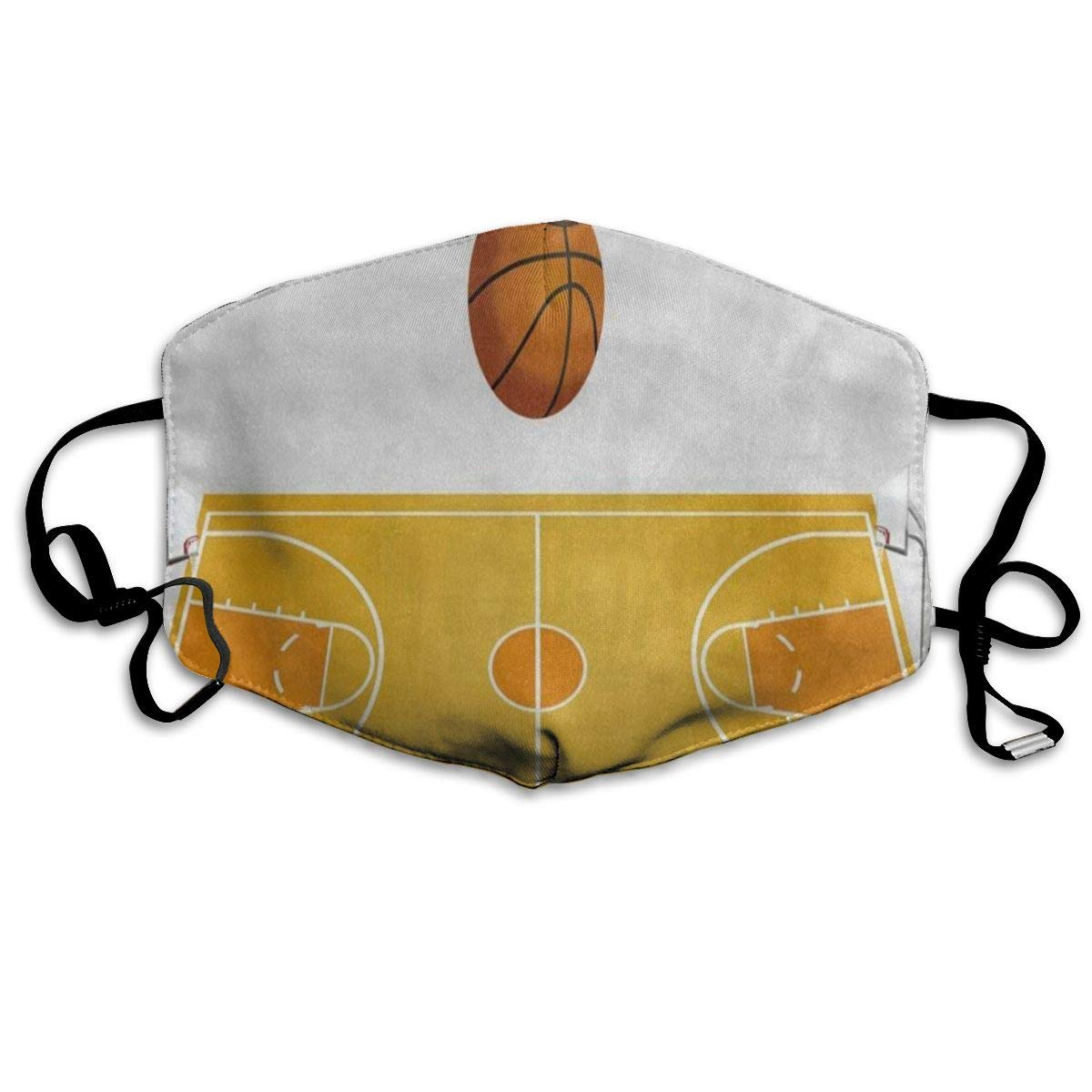 3D Ball Basketball Court Designer Dust Mouth Mask Reusable Anti-Dust Face Mask Adjustable Earloop Skin Protection