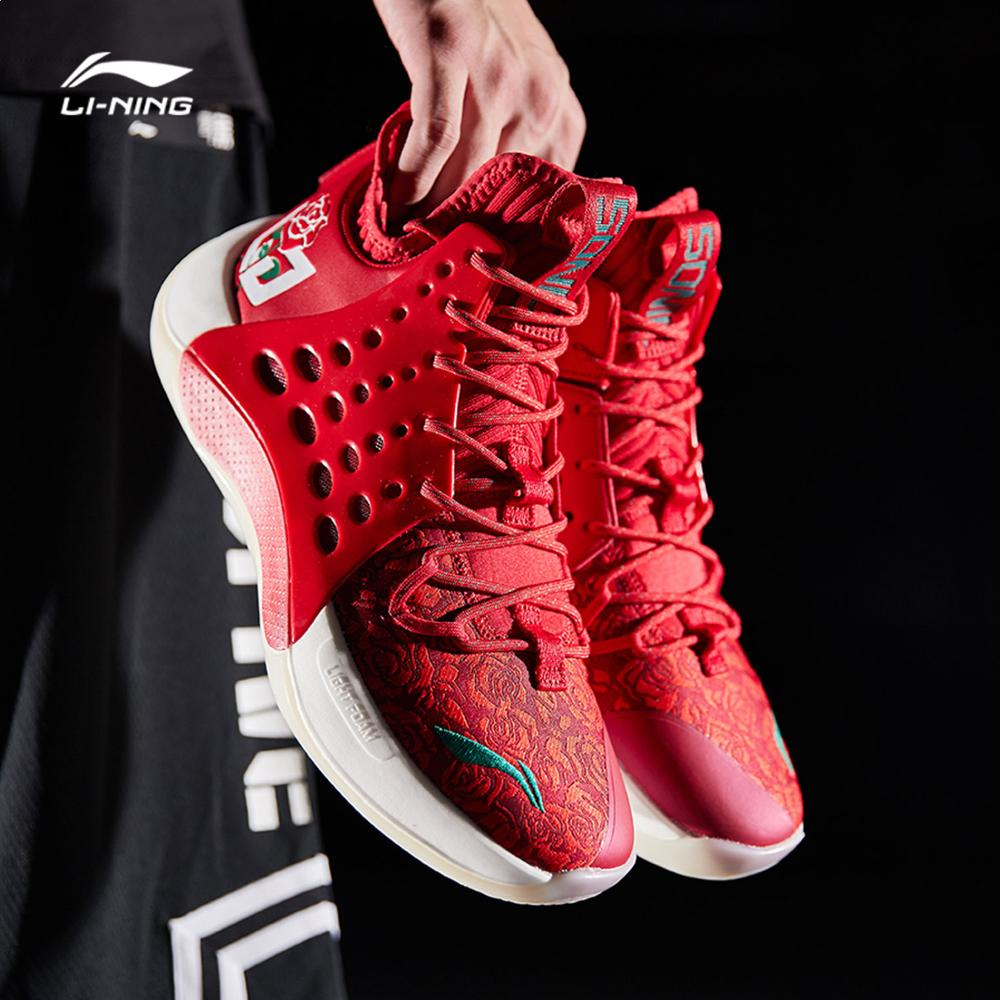Li-Ning Men SONIC VII V2 Professional Basketball Shoes CJ McCollum LIGHT FOAM Durable LiNing Sport Shoes Sneakers ABAP077 SJAS19