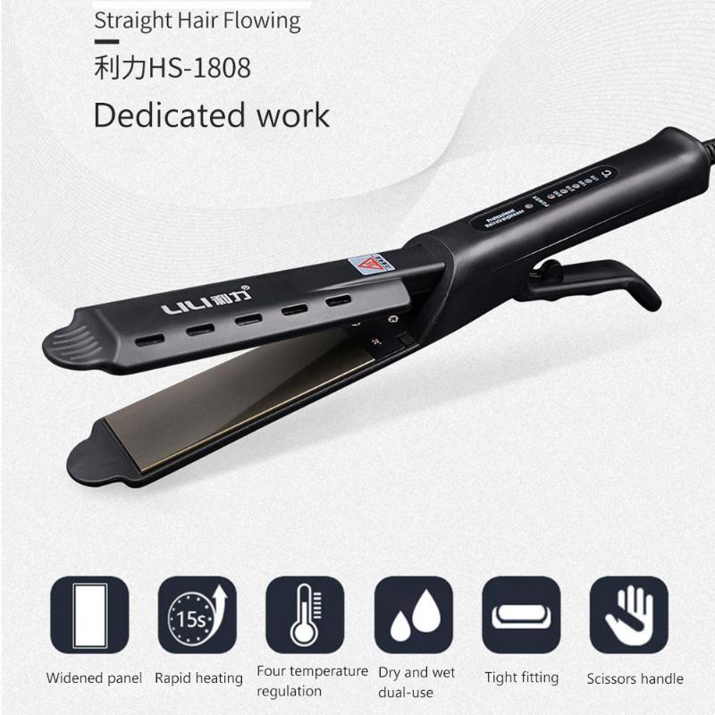 Professional Electric Steam Hair Straightener Curler Hair Flat Iron Vapor Curler Straightening Irons Hair Styling Tools
