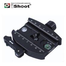 أدلى iShoot عتلة معدنية المشبك ل Gitzo GH1780 GH2780 GH3780 سلسلة و RRS كرة ثلاثية رئيس و كما ستستهدف ARCA SWISS صالح كاميرا