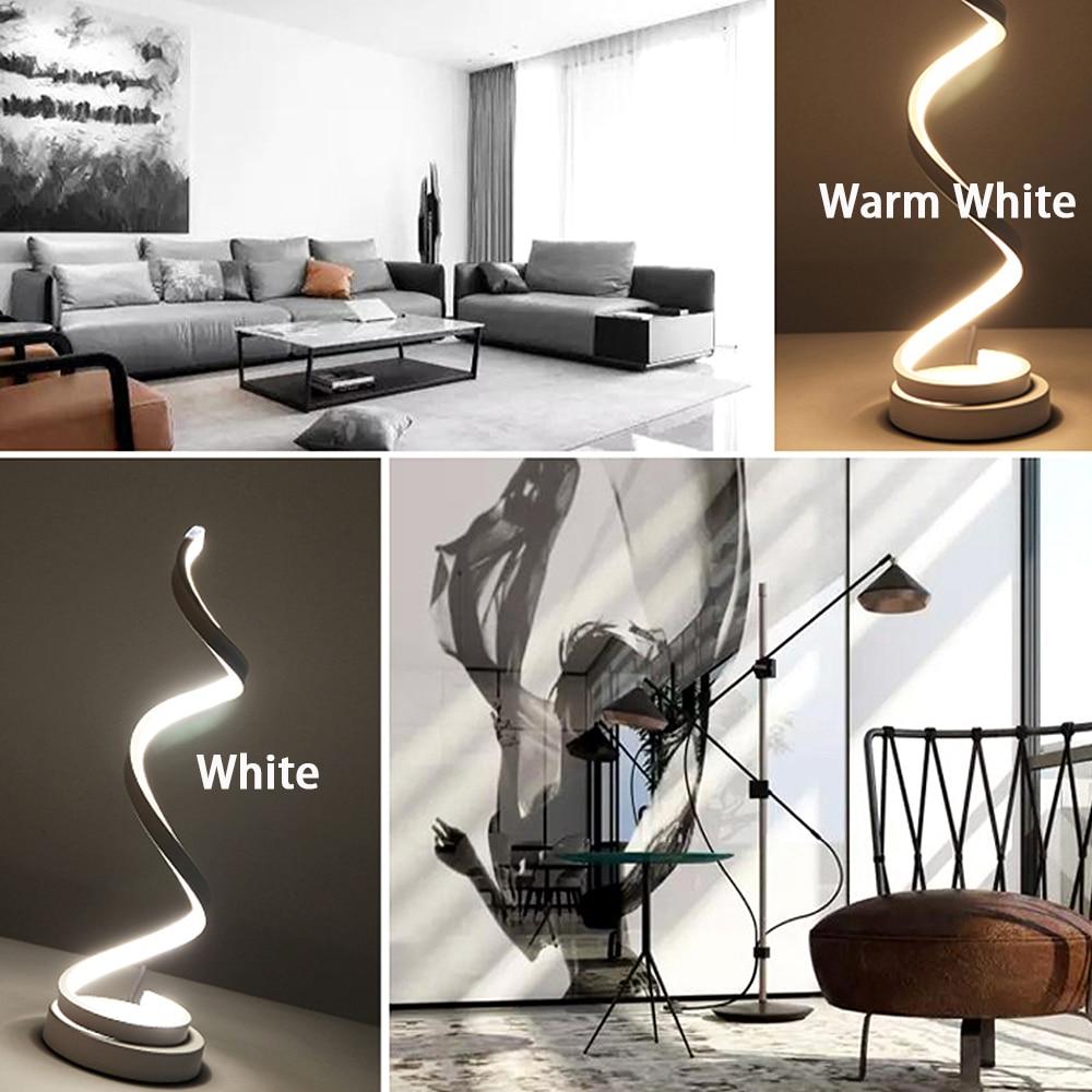 Image 5 - Современный 20 Вт светодиодный настольный светильник для дома, спальни, настольная лампа для чтения, прикроватная лампа для обучения, защита глаз, штепсельная вилка США/ЕСНастольные лампы    АлиЭкспресс