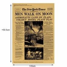 The Moon landing винтажные наклейки крафт-бумага Классический плакат домашнее художественное оформление стен журналы ретро-плакаты и принты