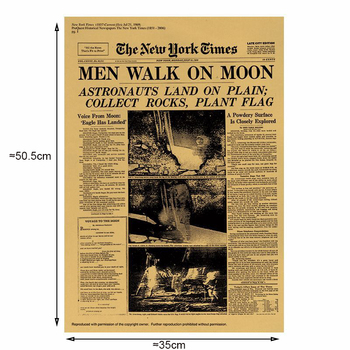 The Moon landing poster Vintage Kraft Paper Classic Poster Home Wall Decoration Art Magazines Retro Posters and Prints