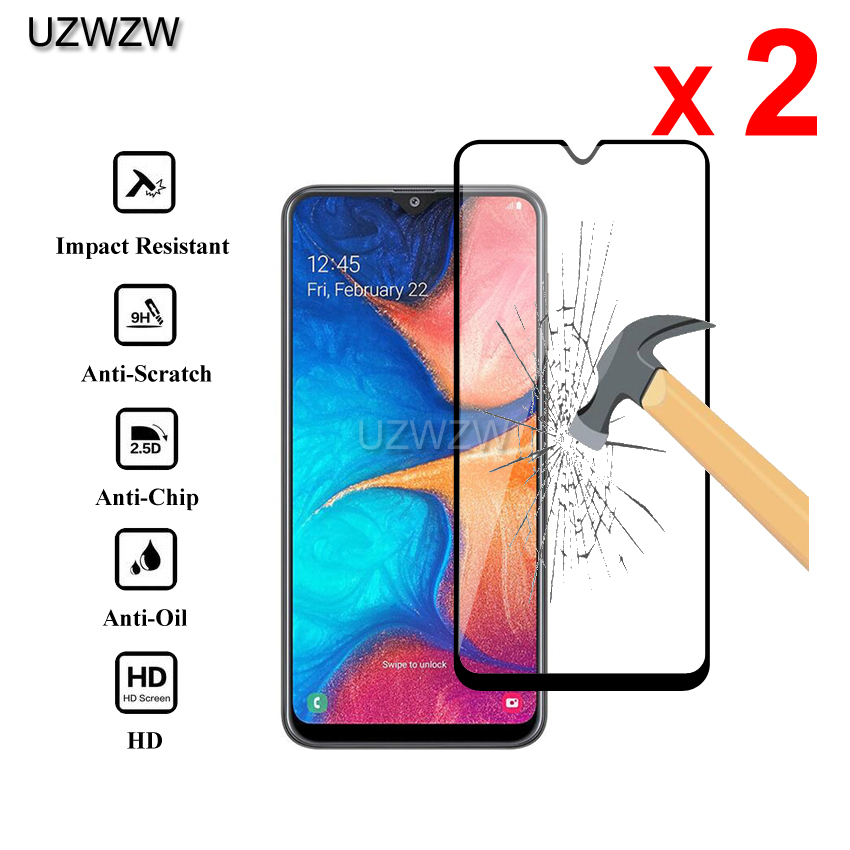 2pcs Glass For Samsung Galaxy A20 Full Cover 0.26mm Screen Protective Tempered Glass For Samsung Galaxy A20 Glass