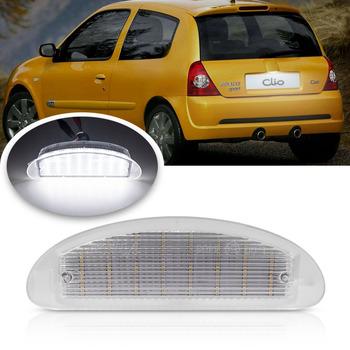 12V światła LED do stylizacji samochodu światło do tablicy rejestracyjnej dla Renault Clio Sport MK2 Clio II (98-05) Twingo I (93-07) OEM nr 7700410754 x1p tanie i dobre opinie NEWM CN (pochodzenie) Oświetlenie tablicy rejestracyjnej 200LM T10 (W5W 194) 12 v 0 1kg 2003 2002 2005 NS-032403 3 5W renault led license plate light