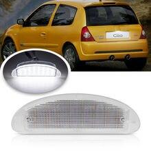 12V автомобильный Стайлинг светодиодный номерной знак светильник для Renault Clio Sport MK2 Clio II (98-05) Twingo I (93-07) разработчик оборудовния № 7700410754 x1p