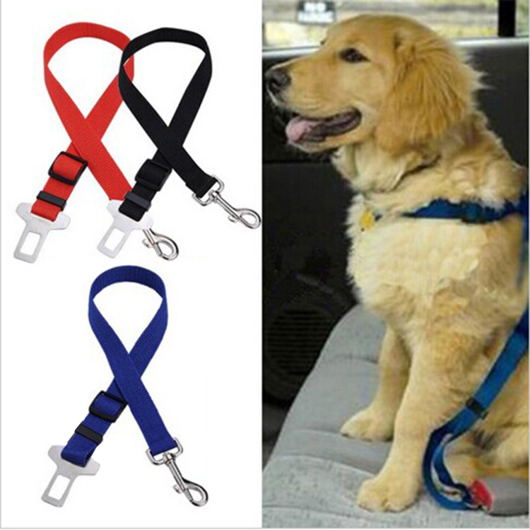 Car Safety Belt For Pet Dacron Pet Fixing Band Adjustable Dog Car Traction Belt