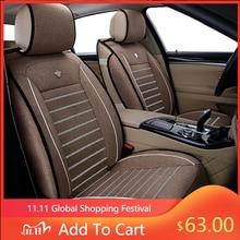 Универсальные льняные чехлы на автомобильные сиденья для Toyota Corolla Camry Rav4 Auris Prius Yalis Avensis SUV Автомобильные аксессуары Автомобильные палочки автомобильные сиденья