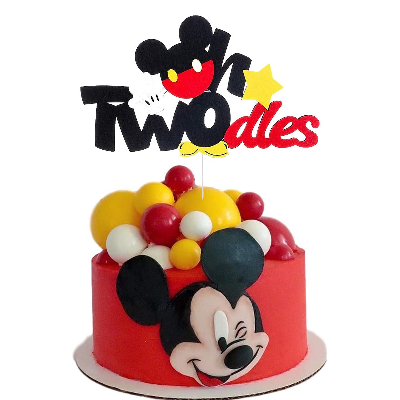 Торт Топпер baby shower пользу нетканое полотно Disney Микки Мышь торт вечерние праздничные баннер вечерние торт Топпер баннер украшения