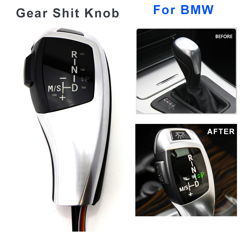Gear Shift Knob Shifter Lever Automatic LED For BMW 1 3 5 6 Series E83 X3 E90 E60 E46 4D E39 E53 E81 E82 E87 E90 E92 E93 E64 image