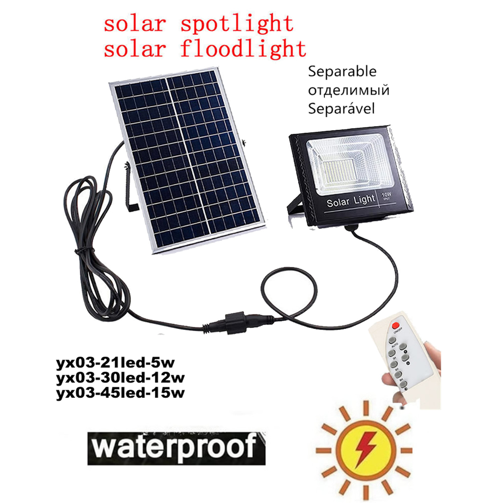Outdoor Street Waterproof Wall Lights LED Solar Power Street Light Light Garden Security Lamp Remote Timer Split Mount Indoor Ho