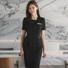Korean version of plastic surgery hospital front desk uniform suit Beauty salon hotel front desk cashier uniform store manager