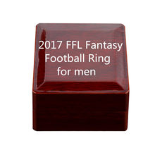 2017 FFL Fantasy Football Ring for men love gift letter signet the ring mens rings set jewelry(China)