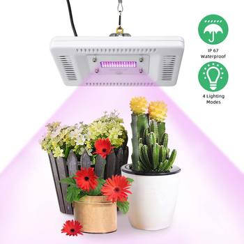 85-265V LED  Grow Light Full Spectrum 4 Modes 50W 56LEDs Waterproof LED Grow Lamp For Indoor Plants Flowers Greenhouses Tent