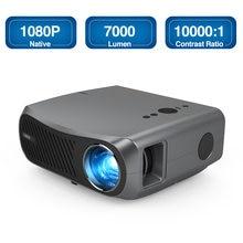 5G WiFi проектор с Bluetooth, 7000 люмен Native 1080P Full HD проектор Поддержка 4K